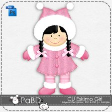 Eskimo Girl Layered Template by Peek a Boo Designs
