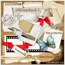 Old Notebook V Elements by Rose.li