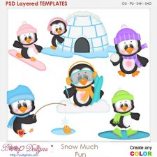Snow Much Fun Layered Element Templates