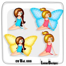 CU Vol 086 Butterfly Girls by Lemur Designs