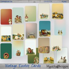 Vintage Easter Tags-Cards by Mandog Scraps