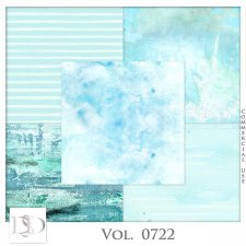 Vol. 0722 Summer Sea Papers by D's Design