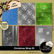 Christmas Wrap 02 - Overlay PAPERS by Boop Designs