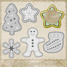 Christmas Cookie Layered Templates by Josy