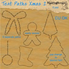 Text Paths Christmas 2 by Mandog Scraps