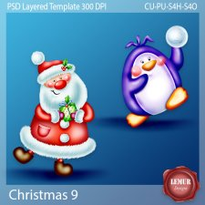 Christmas 9 Layered PSD Templates