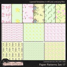 EXCLUSIVE Layered Paper Patterns Templates Set 17 by NewE Designz