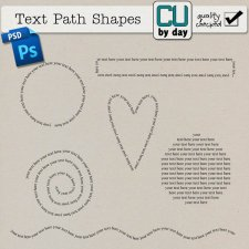 Text Path Shapes - CUbyDay EXCLUSIVE