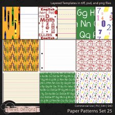 EXCLUSIVE Layered Paper Patterns Templates Set 25 by NewE Designz