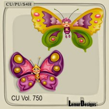 CU Vol 750 Butterflies by Lemur Designs
