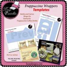 Frappuccino Wrapper TEMPLATE Set by Boop Printables