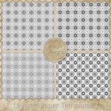 Layered Paper Templates 3 by Josy