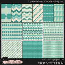 EXCLUSIVE Layered Paper Patterns Templates Set 22 by NewE Designz