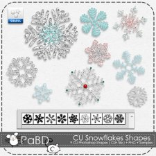 Snowflakes Shapes ( PS ) by Peek a Boo Designs