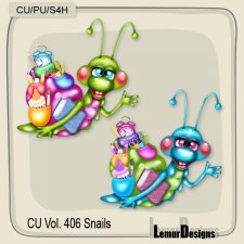 CU Vol 406 Snails by Lemur Designs