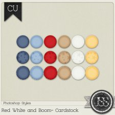 Red White and Boom Cardstock PS Styles by Just So Scrappy