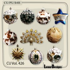 CU Vol 426 Christmas balls by Lemur Designs