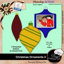 Christmas Ornaments II ACTION by Boop Designs