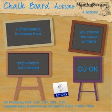 Chalk Board Action by Mandog Scraps