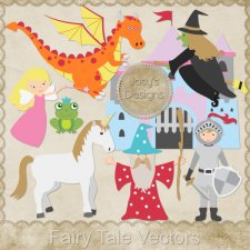 Fairy Tale Layered Vector Templates by Josy