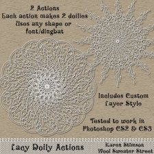 Lacy Doilies Actions by Karen Stimson