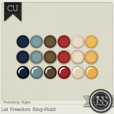 Let Freedom Ring Plaid PS Styles by Just So Scrappy