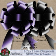 Satin Bows Grayscale by Karen Stimson