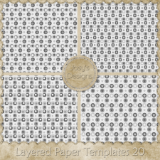 Layered Paper Templates 20 by Josy