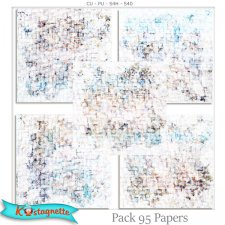 Pack 95 Papers by Kastagnette