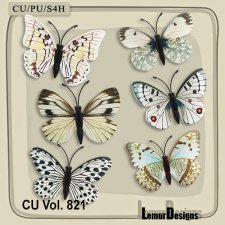 CU Vol 821 Butterflies by Lemur Designs