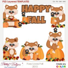 Foxy Loves Fall Element Templates