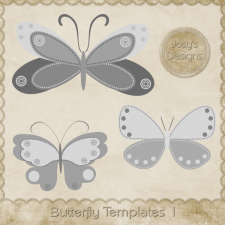 Butterfly Layered Templates 1 by Josy
