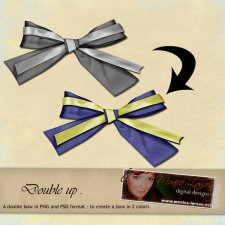 Double Up Bow PNG-files/PSD-files by Monica Larsen