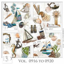 Vol. 0916 to 0920 Summer Sea Mix by D's Design