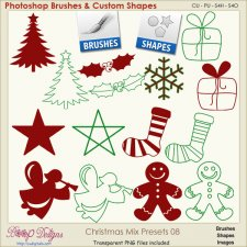 Christmas Brush & Shape PRESETS 08