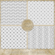 Layered Paper Templates 09 by Josy