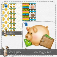 Piggy Bank Pack Layered Template by Peek a Boo Designs
