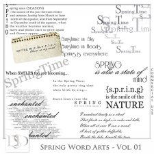 Spring Word Arts Vol 01 by D's Design
