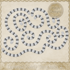 Layered Swirly Templates 2 by Josy