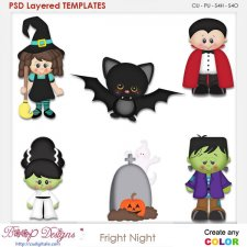 Fright Night Halloween Element Templates