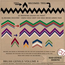 Brush Genius Volume Eight by Mad Genius Designs