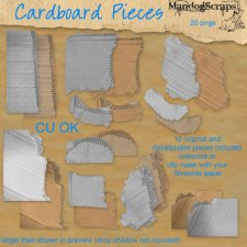 Cardboard Pieces by Mandog Scraps