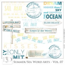 Summer - Sea Word Arts Vol 07 by D's Design