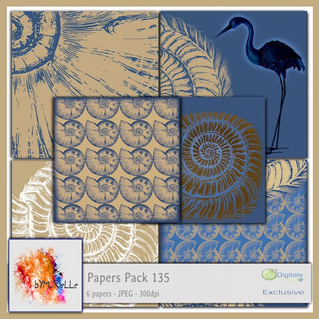 Papers Pack 135 EXCLUSIVE bymurielle