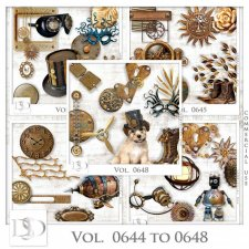 Vol. 0644 to 0648 Steampunk Mix by D's Design