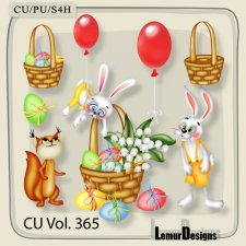 CU Vol 365 Easter Bunny Rabbit by Lemur Designs