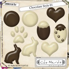 Chocolate Style Set 1 by Cida Merola