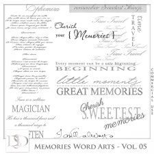 Memories Word Arts Vol 05 by D's Design