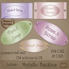 Action - Metallic Buckles by Rose.li