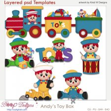Andy's Toy Box Layered Template COMBO Set